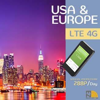 EZ Travel Pocket WiFi & Sim - Service Regions   Europe & USA